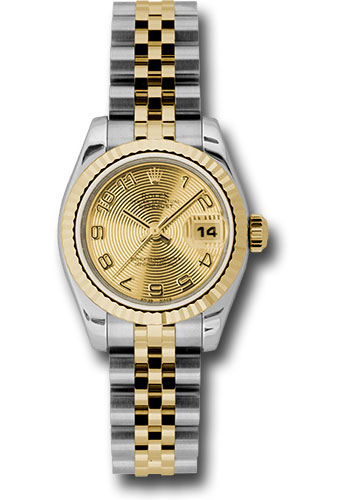 Rolex Watches - Datejust Lady - Steel and Gold Yellow Gold - Fluted Bezel - Jubilee - Style No: 179173 chcaj