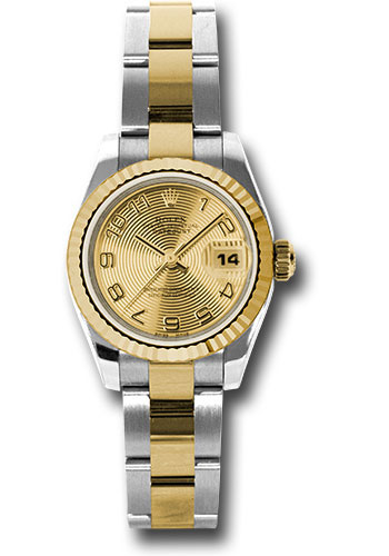 Rolex Watches - Datejust Lady - Steel and Gold Yellow Gold - Fluted Bezel - Oyster - Style No: 179173 chcao