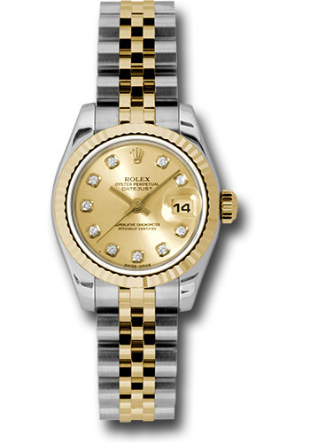 Rolex Watches - Datejust Lady - Steel and Gold Yellow Gold - Fluted Bezel - Jubilee - Style No: 179173 chdj