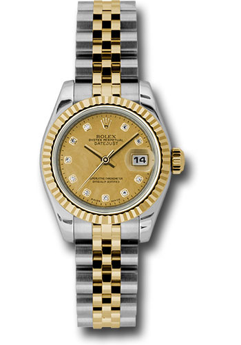 Rolex Watches - Datejust Lady - Steel and Gold Yellow Gold - Fluted Bezel - Jubilee - Style No: 179173 chgdmdj