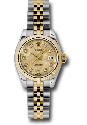 Rolex Watches - Datejust Lady - Steel and Gold Yellow Gold - Fluted Bezel - Jubilee - Style No: 179173 chjdj