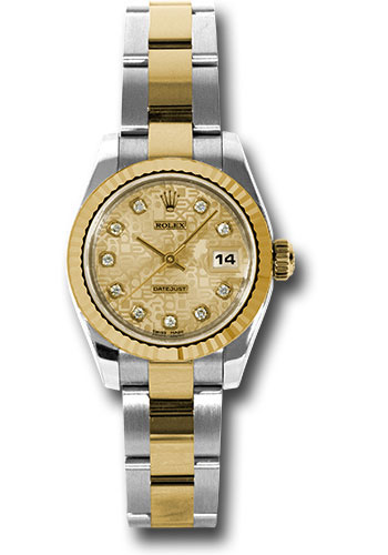 Rolex Watches - Datejust Lady - Steel and Gold Yellow Gold - Fluted Bezel - Oyster - Style No: 179173 chjdo