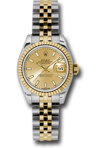 Rolex Watches - Datejust Lady - Steel and Gold Yellow Gold - Fluted Bezel - Jubilee - Style No: 179173 chsj