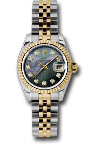 Rolex Watches - Datejust Lady - Steel and Gold Yellow Gold - Fluted Bezel - Jubilee - Style No: 179173 dkmdj
