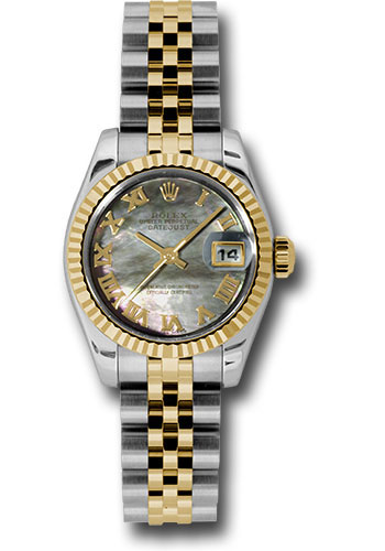 Rolex Watches - Datejust Lady - Steel and Gold Yellow Gold - Fluted Bezel - Jubilee - Style No: 179173 dkmrj