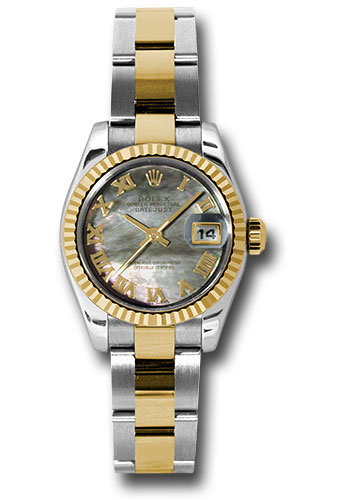 Rolex Watches - Datejust Lady - Steel and Gold Yellow Gold - Fluted Bezel - Oyster - Style No: 179173 dkmro