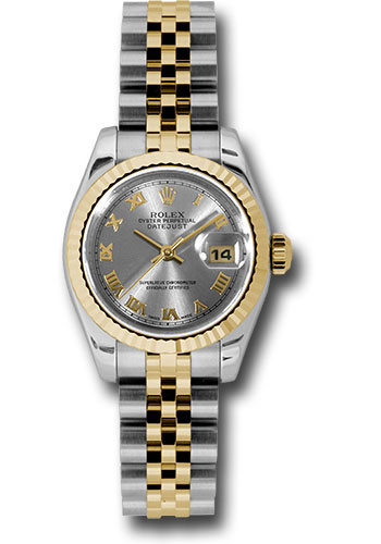 Rolex Watches - Datejust Lady - Steel and Gold Yellow Gold - Fluted Bezel - Jubilee - Style No: 179173 grj