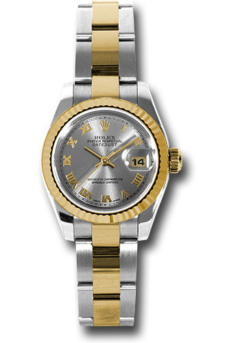 Rolex Watches - Datejust Lady - Steel and Gold Yellow Gold - Fluted Bezel - Oyster - Style No: 179173 gro