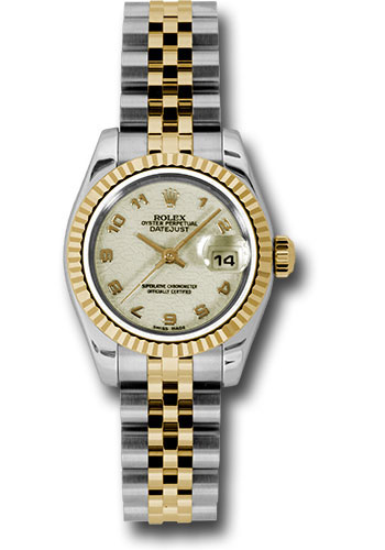 Rolex Watches - Datejust Lady - Steel and Gold Yellow Gold - Fluted Bezel - Jubilee - Style No: 179173 ijaj