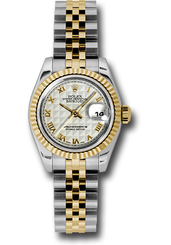 Rolex Watches - Datejust Lady - Steel and Gold Yellow Gold - Fluted Bezel - Jubilee - Style No: 179173 iprj