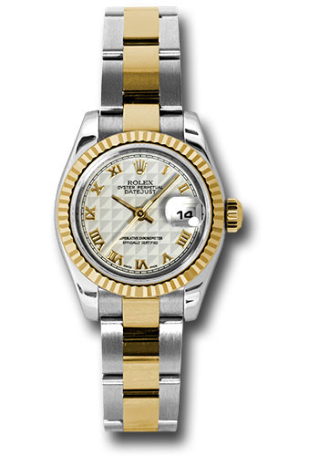 Rolex Watches - Datejust Lady - Steel and Gold Yellow Gold - Fluted Bezel - Oyster - Style No: 179173 ipro