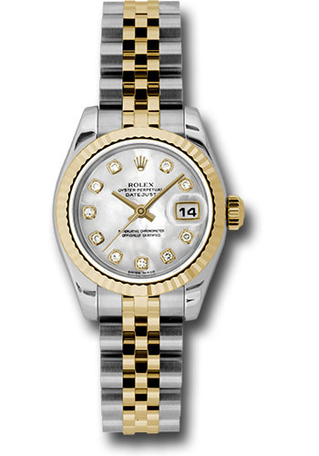 Rolex Watches - Datejust Lady - Steel and Gold Yellow Gold - Fluted Bezel - Jubilee - Style No: 179173 mdj