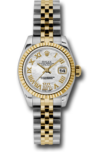 Rolex Watches - Datejust Lady - Steel and Gold Yellow Gold - Fluted Bezel - Jubilee - Style No: 179173 mdrj