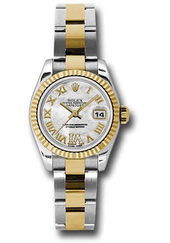 Rolex Watches - Datejust Lady - Steel and Gold Yellow Gold - Fluted Bezel - Oyster - Style No: 179173 mdro