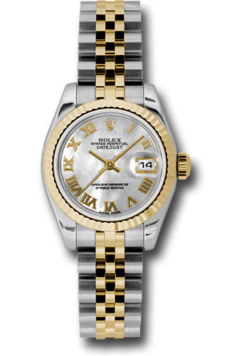 Rolex Watches - Datejust Lady - Steel and Gold Yellow Gold - Fluted Bezel - Jubilee - Style No: 179173 mrj