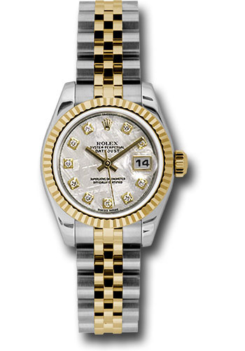 Rolex Watches - Datejust Lady - Steel and Gold Yellow Gold - Fluted Bezel - Jubilee - Style No: 179173 mtdj