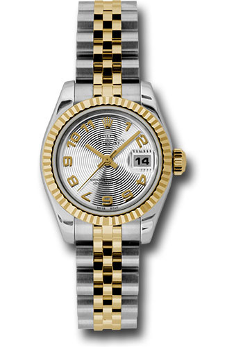 Rolex Watches - Datejust Lady - Steel and Gold Yellow Gold - Fluted Bezel - Jubilee - Style No: 179173 scaj