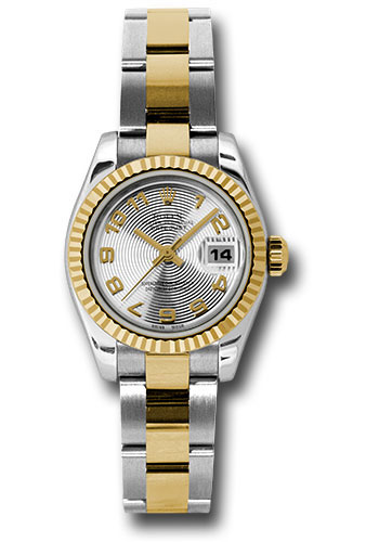 Rolex Watches - Datejust Lady - Steel and Gold Yellow Gold - Fluted Bezel - Oyster - Style No: 179173 scao