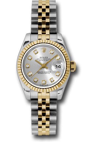 Rolex Watches - Datejust Lady - Steel and Gold Yellow Gold - Fluted Bezel - Jubilee - Style No: 179173 sdj