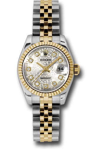 Rolex Watches - Datejust Lady - Steel and Gold Yellow Gold - Fluted Bezel - Jubilee - Style No: 179173 sjdj
