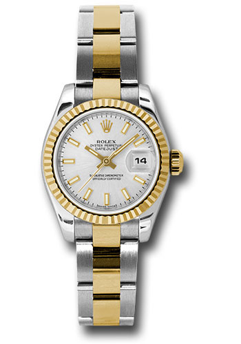 Rolex Watches - Datejust Lady - Steel and Gold Yellow Gold - Fluted Bezel - Oyster - Style No: 179173 sso