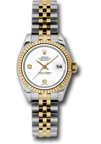 Rolex Watches - Datejust Lady - Steel and Gold Yellow Gold - Fluted Bezel - Jubilee - Style No: 179173 wadj