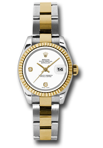 Rolex Watches - Datejust Lady - Steel and Gold Yellow Gold - Fluted Bezel - Oyster - Style No: 179173 wado