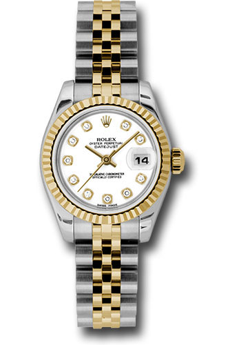 Rolex Watches - Datejust Lady - Steel and Gold Yellow Gold - Fluted Bezel - Jubilee - Style No: 179173 wdj