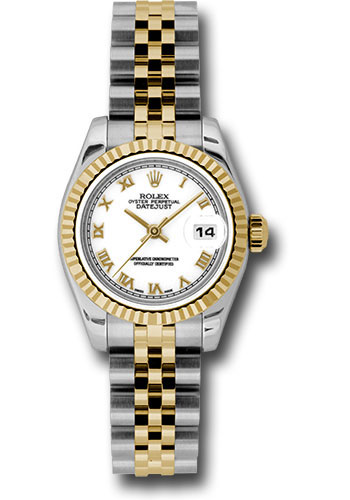 Pre-Owned Rolex Watches - Datejust Lady - Steel and Gold Yellow Gold - Fluted Bezel - Jubilee - Style No: V179173wrj