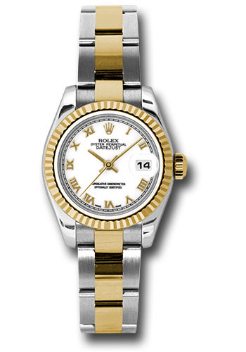Rolex Watches - Datejust Lady - Steel and Gold Yellow Gold - Fluted Bezel - Oyster - Style No: 179173 wro