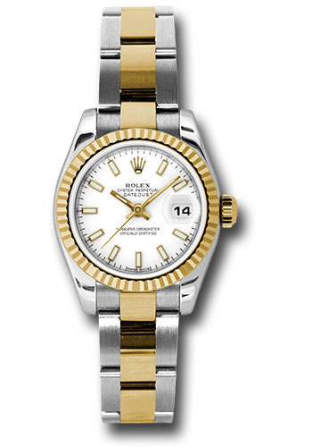 Rolex Watches - Datejust Lady - Steel and Gold Yellow Gold - Fluted Bezel - Oyster - Style No: 179173 wso