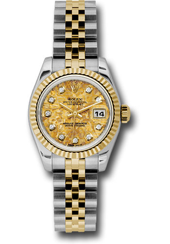 Rolex Watches - Datejust Lady - Steel and Gold Yellow Gold - Fluted Bezel - Jubilee - Style No: 179173 ygcdj
