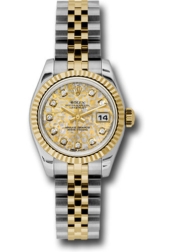 Rolex Watches - Datejust Lady - Steel and Gold Yellow Gold - Fluted Bezel - Jubilee - Style No: 179173 ygjcdj