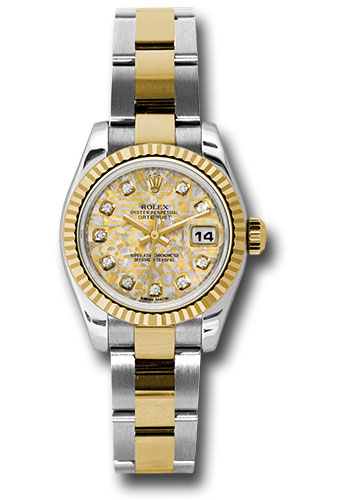 Rolex Watches - Datejust Lady - Steel and Gold Yellow Gold - Fluted Bezel - Oyster - Style No: 179173 ygjcdo