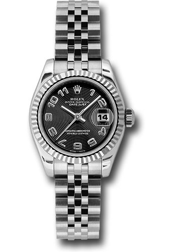 Rolex Watches - Datejust Lady - Steel Fluted Bezel - Jubilee Bracelet - Style No: 179174 bkcaj