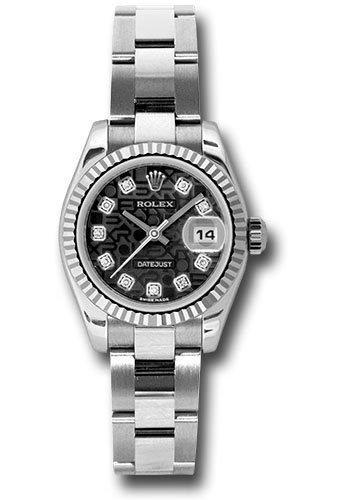 Rolex Watches - Datejust Lady - Steel Fluted Bezel - Oyster Bracelet - Style No: 179174 bkjdo