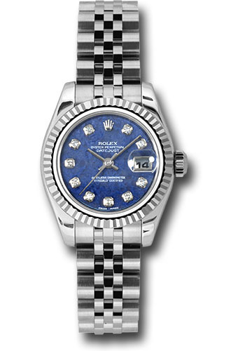 Rolex Watches - Datejust Lady - Steel Fluted Bezel - Jubilee Bracelet - Style No: 179174 blsodj