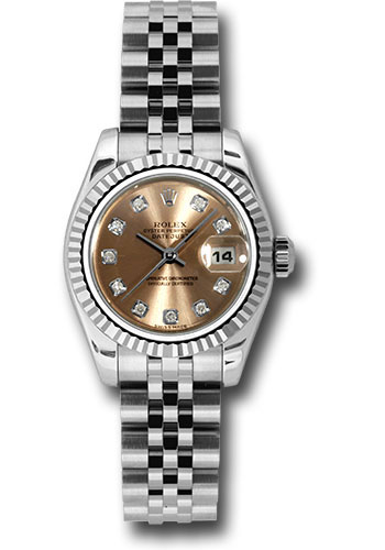 Rolex Watches - Datejust Lady - Steel Fluted Bezel - Jubilee Bracelet - Style No: 179174 pdj