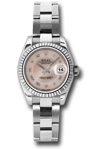 Rolex Watches - Datejust Lady - Steel Fluted Bezel - Oyster Bracelet - Style No: 179174 mpdro