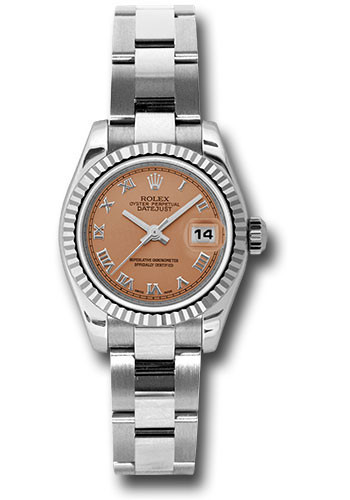 Rolex Watches - Datejust Lady - Steel Fluted Bezel - Oyster Bracelet - Style No: 179174 pro