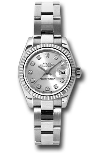 Rolex Watches - Datejust Lady - Steel Fluted Bezel - Oyster Bracelet - Style No: 179174 sdo