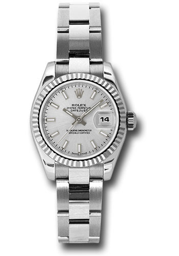Rolex Watches - Datejust Lady - Steel Fluted Bezel - Oyster Bracelet - Style No: 179174 sso