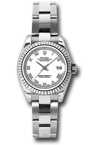 Rolex Watches - Datejust Lady - Steel Fluted Bezel - Oyster Bracelet - Style No: 179174 wro