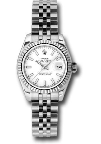 Rolex Watches - Datejust Lady - Steel Fluted Bezel - Jubilee Bracelet - Style No: 179174 wsj