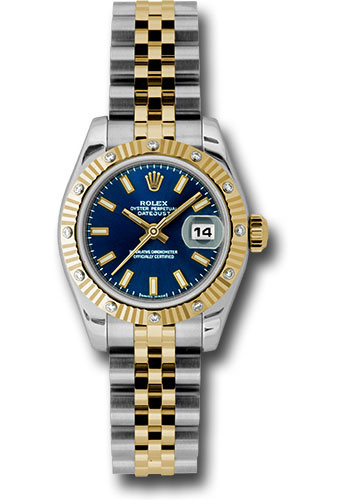 Rolex Watches - Datejust Lady - Steel and Gold Yellow Gold - 12 Dia Bezel - Jubilee - Style No: 179313 bsj