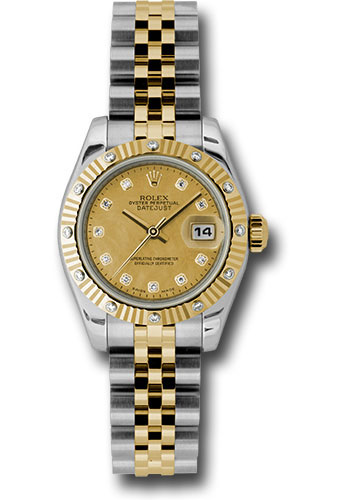 Rolex Watches - Datejust Lady - Steel and Gold Yellow Gold - 12 Dia Bezel - Jubilee - Style No: 179313 chgdmdj