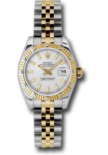 Rolex Watches - Datejust Lady - Steel and Gold Yellow Gold - 12 Dia Bezel - Jubilee - Style No: 179313 ssj