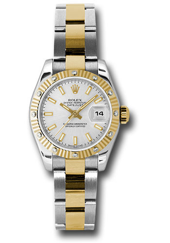 Rolex Watches - Datejust Lady - Steel and Gold Yellow Gold - 12 Dia Bezel - Oyster - Style No: 179313 sso