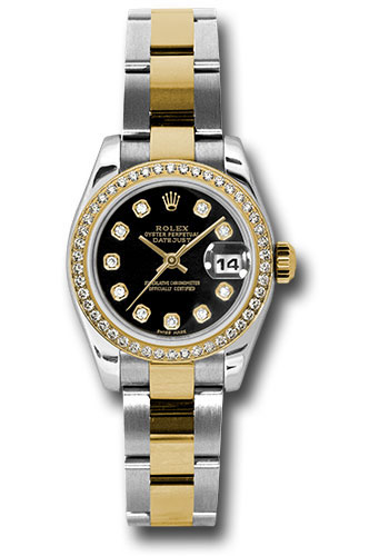 Rolex Watches - Datejust Lady - Steel and Gold Yellow Gold - 46 Dia Bezel - Oyster - Style No: 179383 bkdo