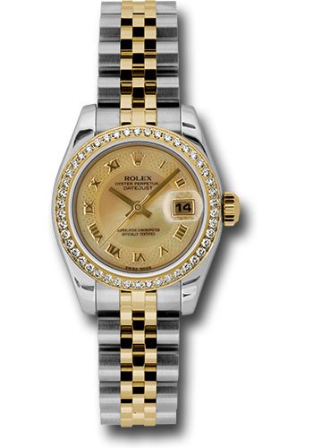 Rolex Watches - Datejust Lady - Steel and Gold Yellow Gold - 46 Dia Bezel - Jubilee - Style No: 179383 chmdrj